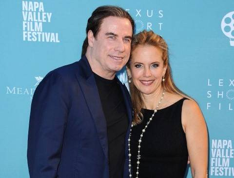 "YOUNTVILLE, CA - NOVEMBER 14:  John Travolta and Kelly Preston at the world premiere of ""Life on the Line""  at the 2015 Napa Valley Film Festival at the Lincoln Theater on November 14, 2015 in Yountville, California.  (Photo by Scott Kirkland/PictureGroup)"