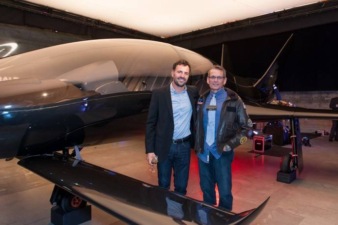 "David Lowry and Mark Stucky,, a former NASA and US Air Force ""Pilot of the Year"" and was recently named Pilot for Virgin Galactic."