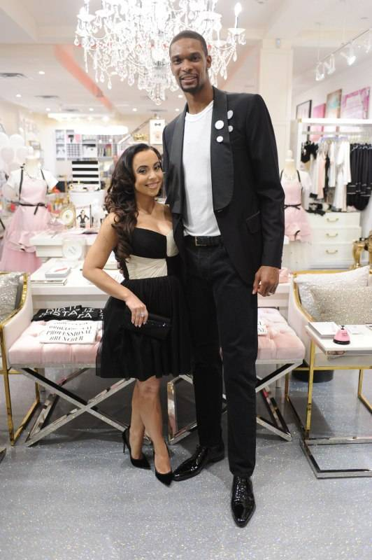 Adrienne & Chris Bosh