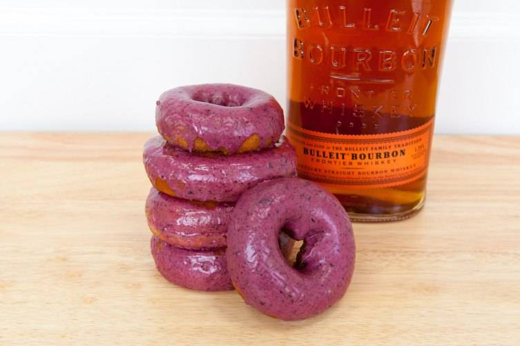 Blueberry Bourbon Basil Donuts  at Blue Star Donuts
