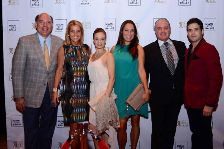 Dan & Tina Carlo, MCB Dancer Jennifer Kronenberg, Katherine Rubino, Stephen Brunelle, and Carlos Guerra