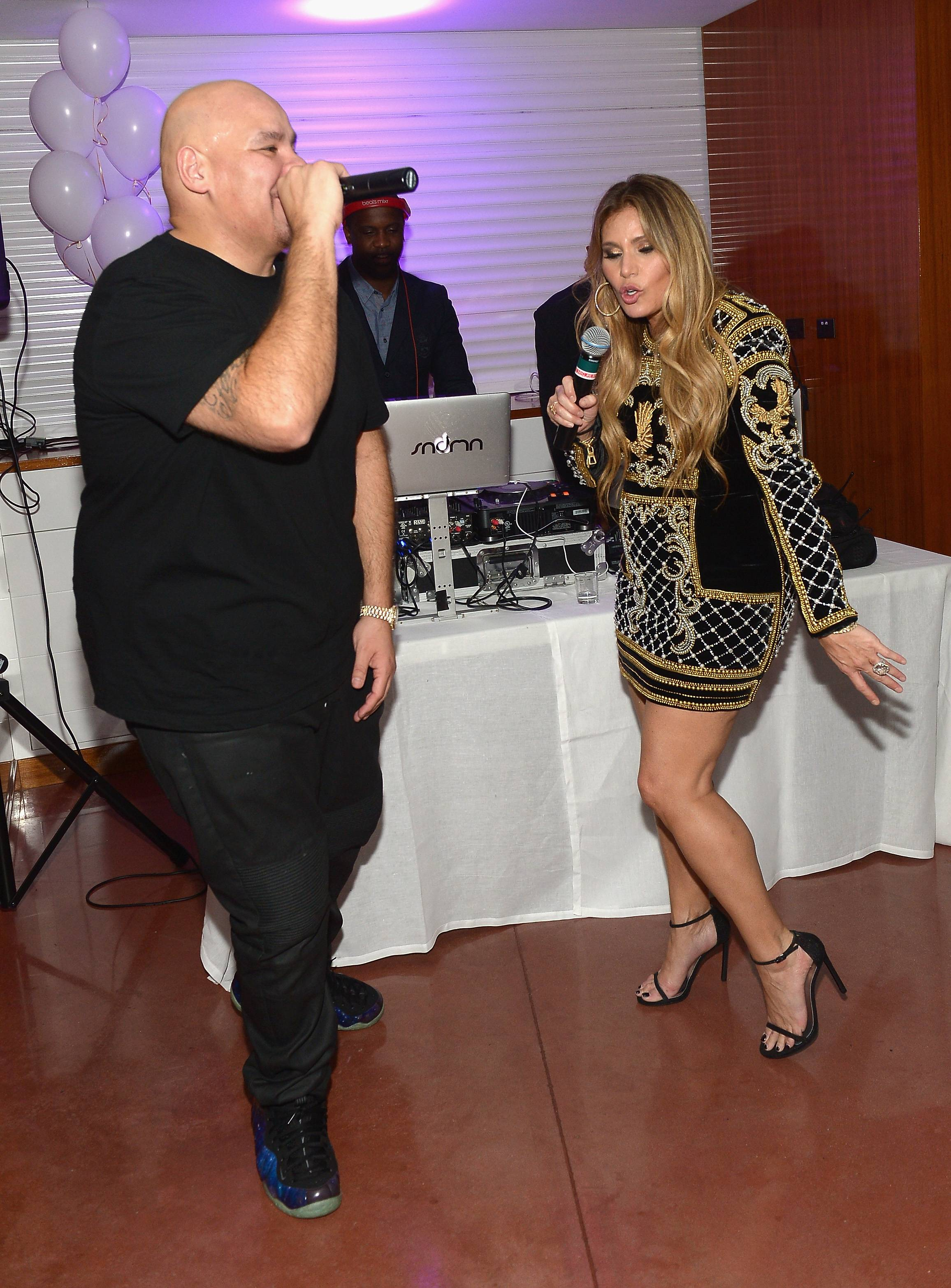 MIAMI, FL - NOVEMBER 21: Fat Joe and Loren Ridinger attend Haute Living celebrates Loren Ridinger's birthday at Cipriani Downtown Miami on November 21, 2015 in Miami, Florida. (Photo by Gustavo Caballero/Getty Images for Haute Living)