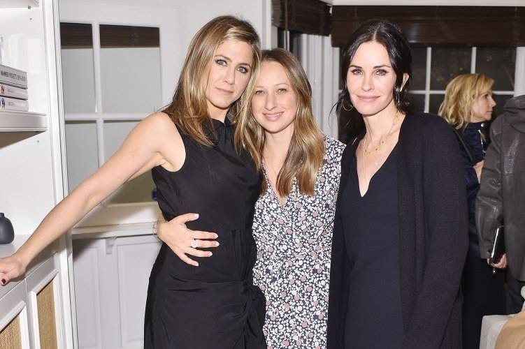 Jennifer Aniston, designer Jennifer Meyer and actress Courteney Cox