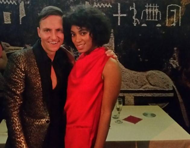 Ken Fulk and Solange Knowles at the haute party he threw celebrating the 75th anniversary of The Top of the Mark.