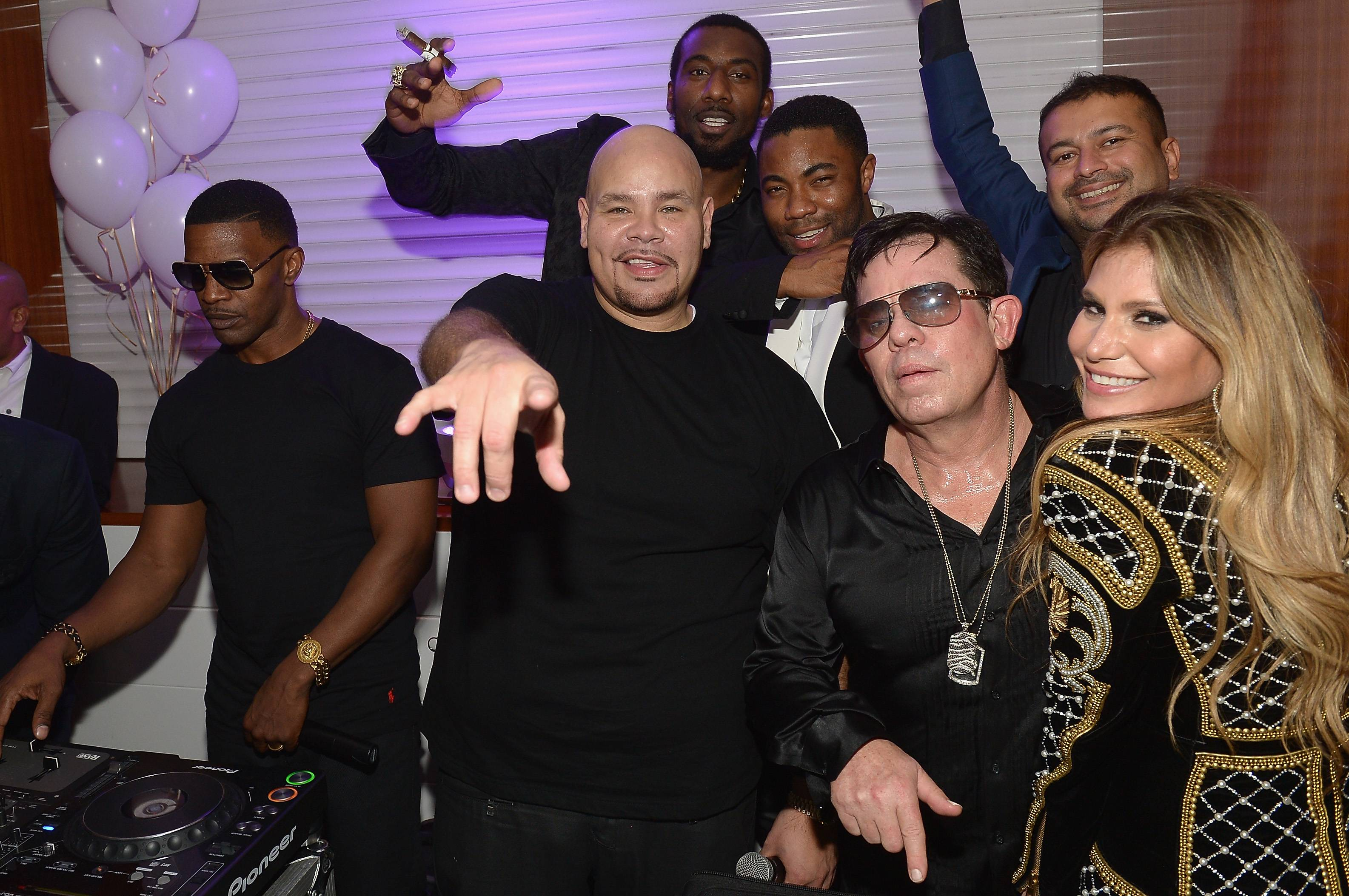 MIAMI, FL - NOVEMBER 21: Jamie Foxx, Amar'e Stoudemire, Fat Joe, JR Ridinger, Duane McLaughlin, Kamal Hotchandani, and Loren Ridinger attend Haute Living celebrates Loren Ridinger's birthday at Cipriani Downtown Miami on November 21, 2015 in Miami, Florida. (Photo by Gustavo Caballero/Getty Images for Haute Living)