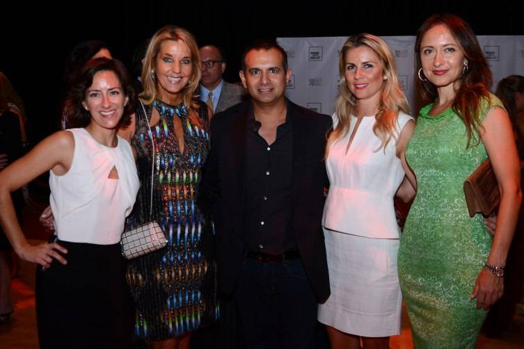 MCB Director of Development Eva Silverstein, Tina Carlo & VIP Guests at the private opening night reception