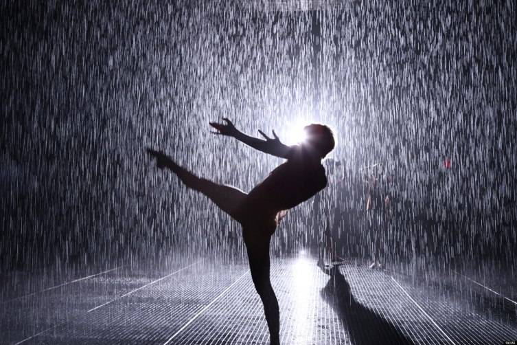 Rain Room photo by Charles Rousse