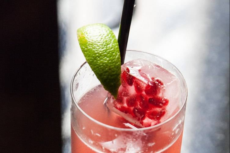 Pomegranate Rickey