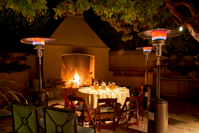 Fireplace in Hacienda Patio
