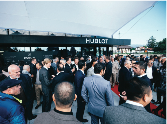 Guests enjoying the opening of Hublot 2.0.