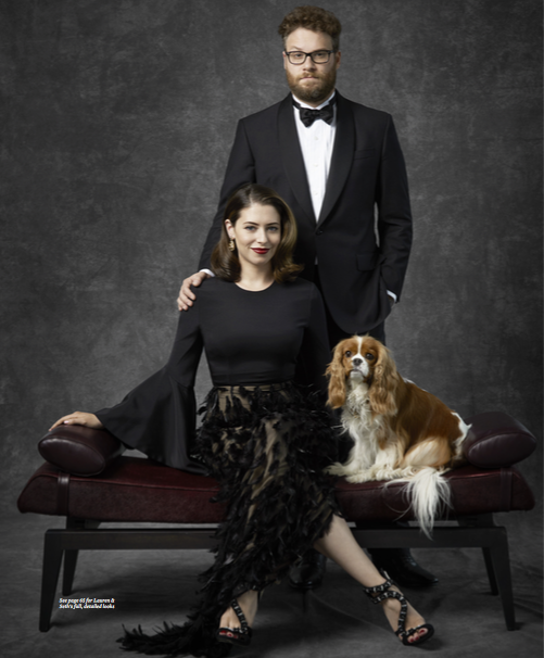 Seth and Lauren Rogen Haute Living