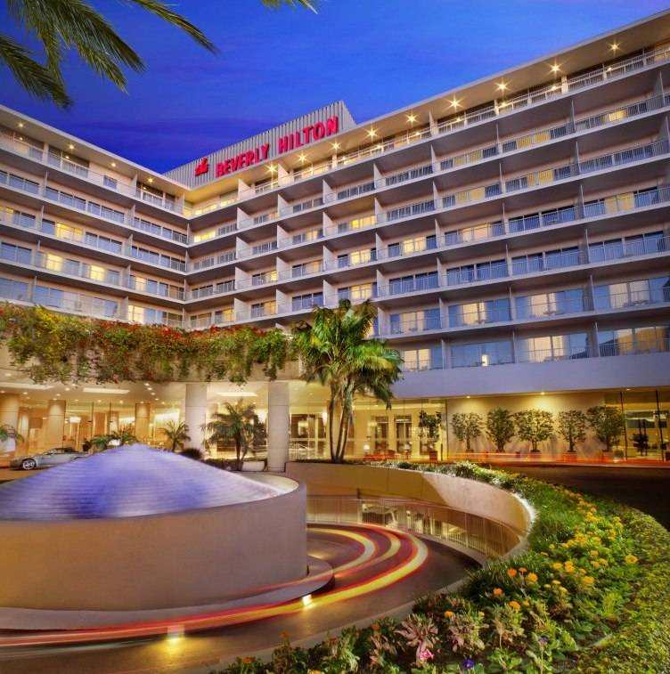 The Beverly Hilton Entrance