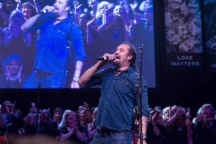 Michael Franti performs at GLIDE's Annual Holiday Jam: Love Matters