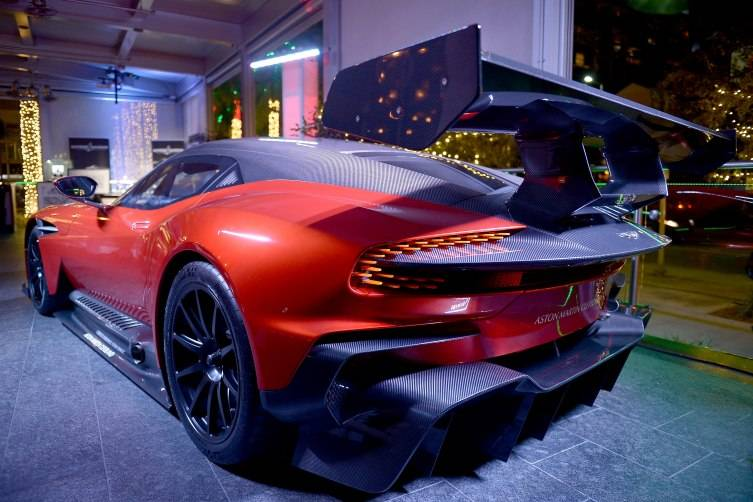 A view of The Aston Martin Cleveland at Haute Living Art Talk: Kickoff to Art Basel 2015 on December 1, 2015 in Miami, Florida. (Photo by Gustavo Caballero/Getty Images for Haute Living)