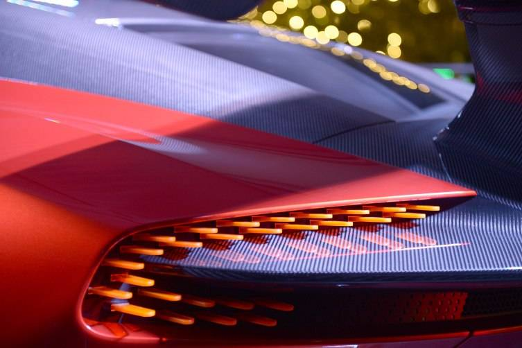 A view of The Aston Martin Vulcan at Haute Living Art Talk (Photo by Gustavo Caballero/Getty Images for Haute Living)