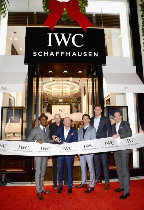 Aloe Blacc, IWC Schaffhausen CEO Georges Kern, actor James Marsden, basketball player Blake Griffin and Brand President Edouard D'Arbaumont