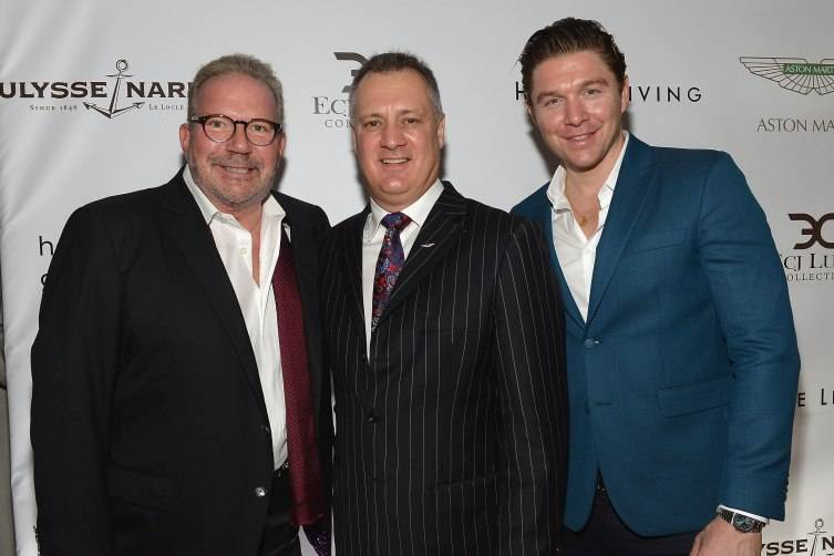 Ken Gorin, Matthew Bennett, and Philippe Hoerle-Guggenheim (Photo by Gustavo Caballero/Getty Images for Haute Living)