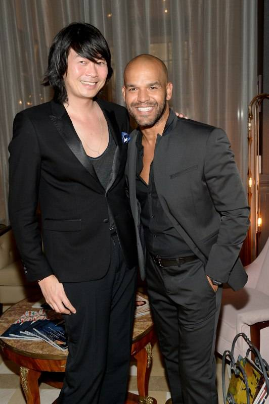 MIAMI, FL - DECEMBER 01: Axel Huynh and Amaury Nolasco attend Haute Living Art Talk: Kickoff to Art Basel 2015 on December 1, 2015 in Miami, Florida. (Photo by Gustavo Caballero/Getty Images for Haute Living)