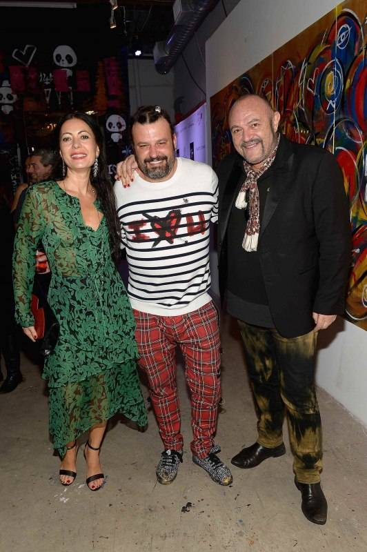 MIAMI, FL - DECEMBER 02: Fashion designer Catherine Malandrino, Domingo Zapata, and Bernard Aidan attend Haute Living And Zacapa Rum Present Domingo Zapata At Lulu Laboratorium on December 2, 2015 in Miami, Florida. (Photo by Gustavo Caballero/Getty Images for Haute Living)