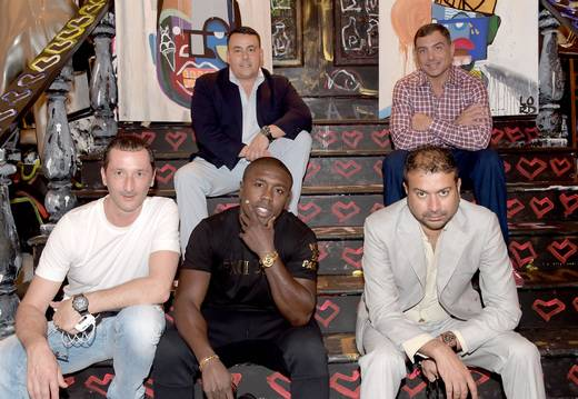 Pierre Salanitro, Andre Berto, guest, Kamal Hotchandani and Antonio Misuraca