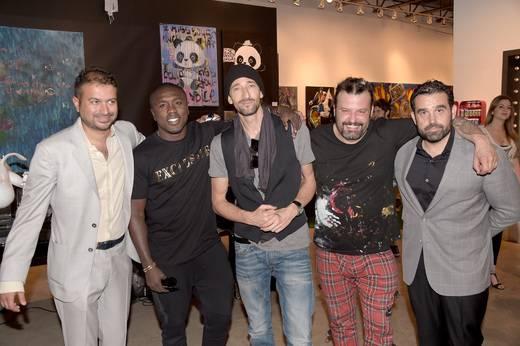 Kamal Hotchandani, Andre Berto, Adrien Brody, Domingo Zapata and Seth Semilof