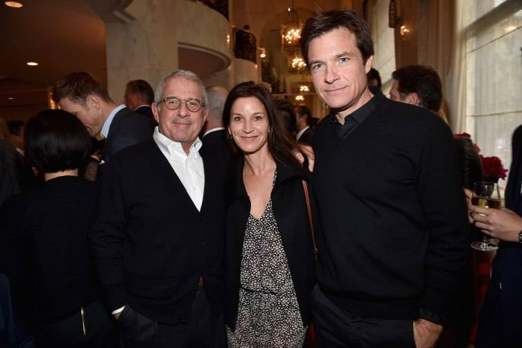 Vice Chairman of NBCUniversal Ron Meyer, actress Amanda Anka and actor Jason Bateman