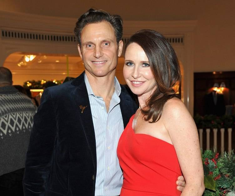 Tony Goldwyn (L) and costume designer Janie Bryant