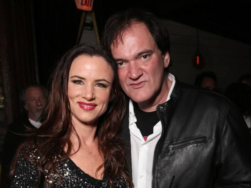 Juliette Lewis and Quentin Tarantino