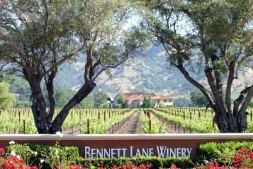 Bennett Lane Winery entrance