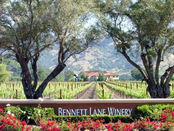 Bennett Lane Winery entrance