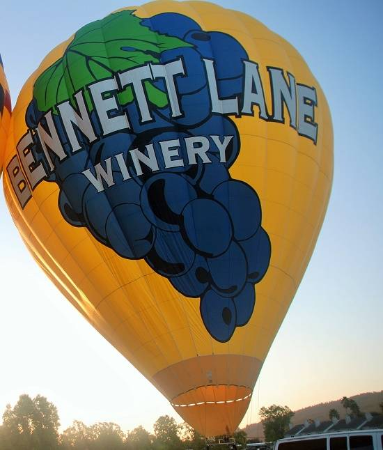 Bennett Lane Winery hot air balloon