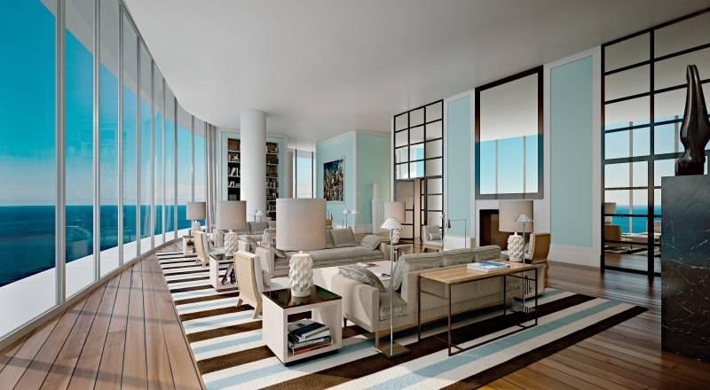 Club room facing west Ritz-Carlton Residences Sunny Isles Beach