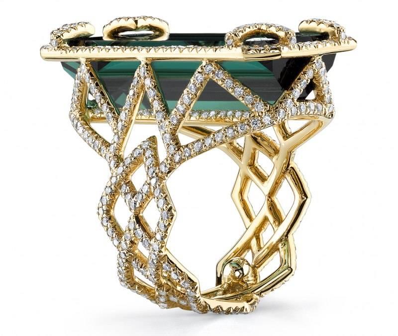 Erica Courtney Chevron indicolite Ring side