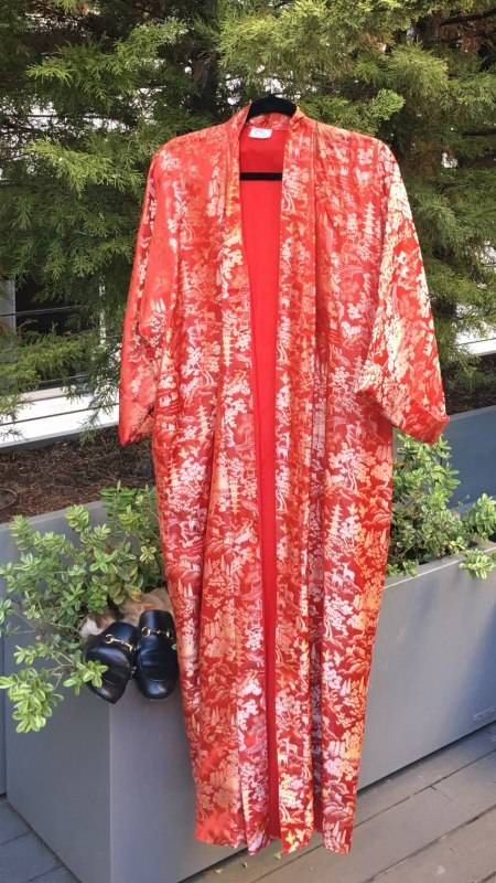 Vintage caftan, a Haight-Ashbury find