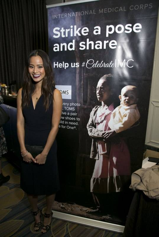 Jamie Chung poses at the TOMS booth in the International Medical Corps Annual Awards Celebration at the Beverly Wilshire Hotel in Beverly Hills, CA on Thursday, November 12th, 2015l (Tyler Curtis/ @tyliner)