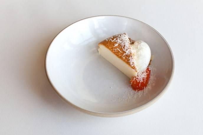 Japanese-style cheesecake, persimmon, parmesan, cream cheese ice cream