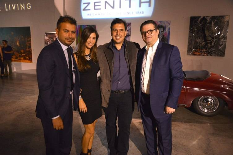 Kamal Hotchandani, guests and ZENITH CEO, Aldo Magada