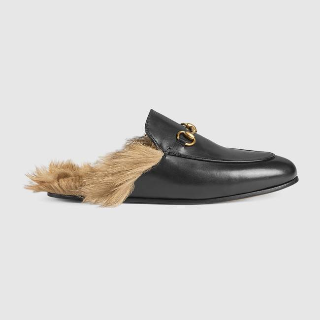 Light-Princetown-leather-slipper