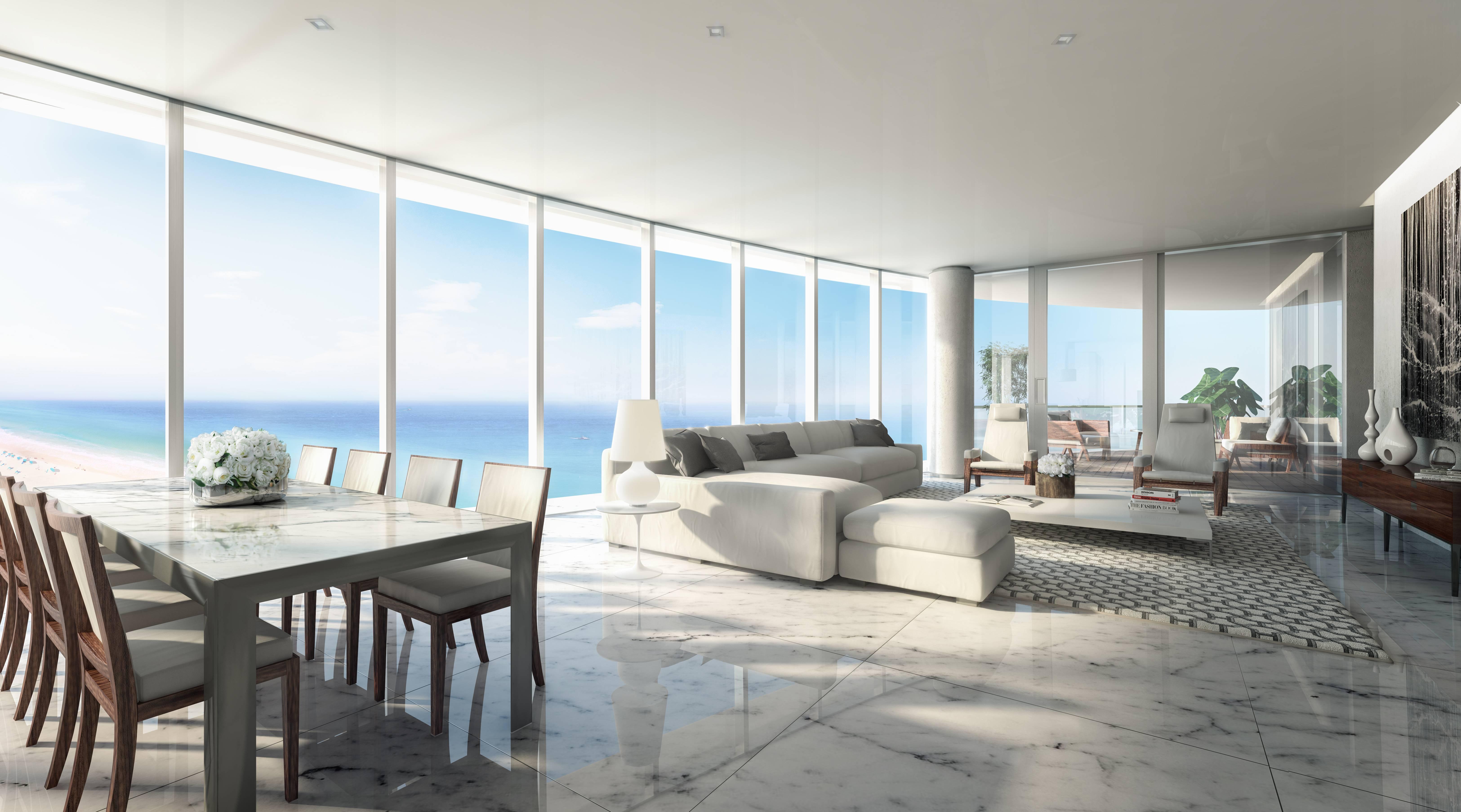 Living Room Ritz Carlton Residences Sunny Isles Beach