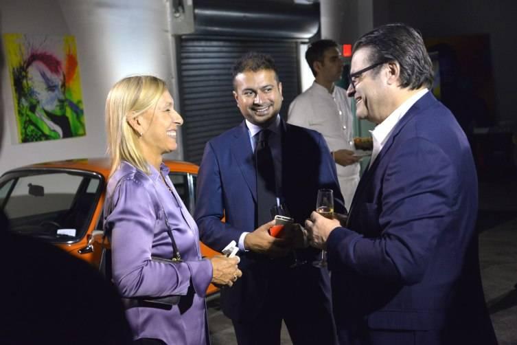 Martina Navratilova, Kamal Hotchandani and Aldo Magada