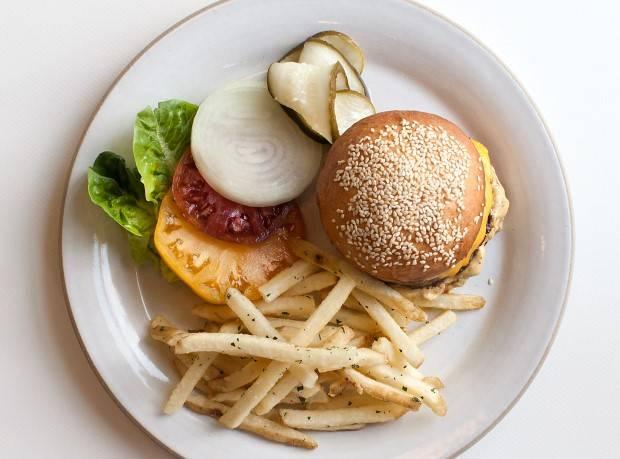 NINEBARK Burger and fries
