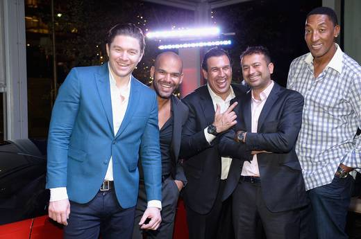 Philippe Hoerle-Guggenheim, Amaury Nolasco, Tom Oso Jet Lux CEO, Kamal, Pippen
