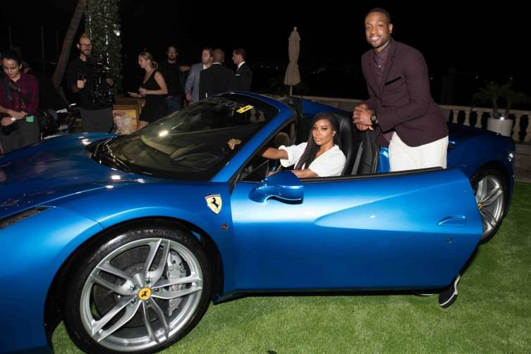 Miami Beach, FL - DECEMBER 4: Gabrielle Union and Dwyane Wade pose during the Hublot & Haute Living Toast Art Basel with Private Dinner hosted by Dwyane Wade & Gabrielle Union on December 4, 2015 in Miami Beach, Florida. (Photo by Bobby Metelus/Getty Images) *** Local Caption ***Gabrielle Union;Dwyane Wade