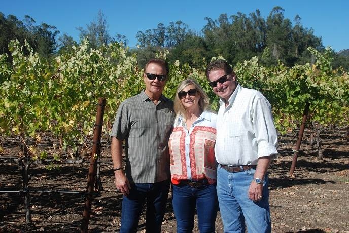 Randy and Lisa Lynch and winemaker Rob Hunter