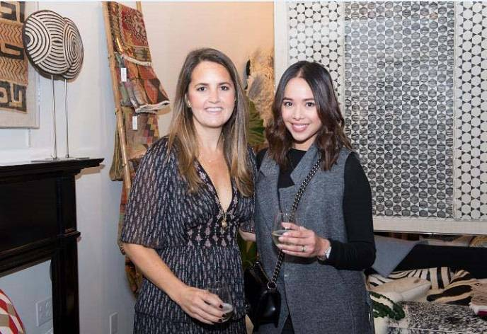 St. Frank CEO & Founder Christina Bryant with Therese Jacinto Brady of Craft and Couture at grand opening party.