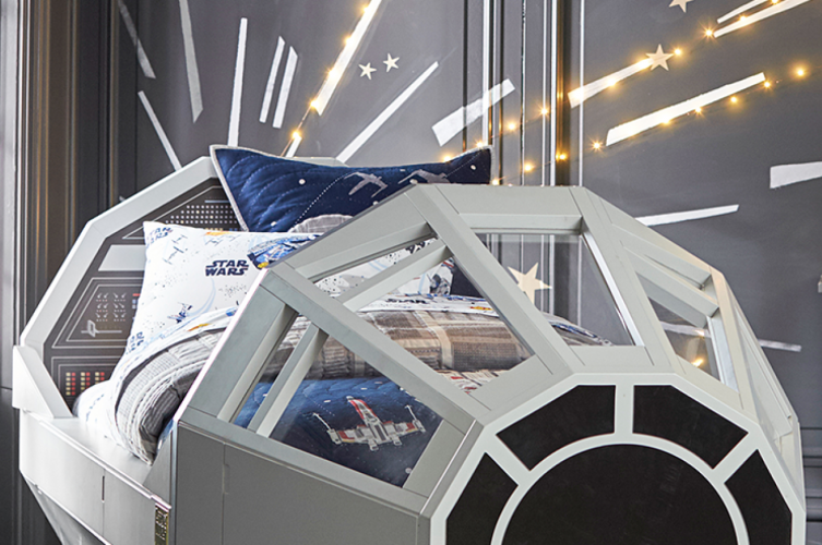 Pottery Barn's Millennium Falcon bed