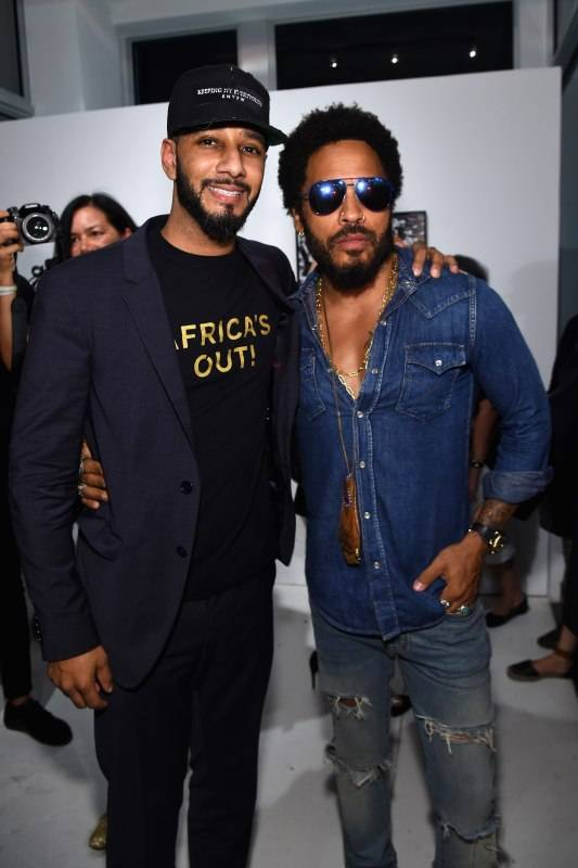 MIAMI, FL - DECEMBER 01: Swizz Beatz and Lenny Kravitz attend the Opening of Lenny Kravitz FLASH Photography Exhibition at Miami Design District on December 1, 2015 in Miami, Florida. (Photo by Jamie McCarthy/Getty Images for Forbes PR)