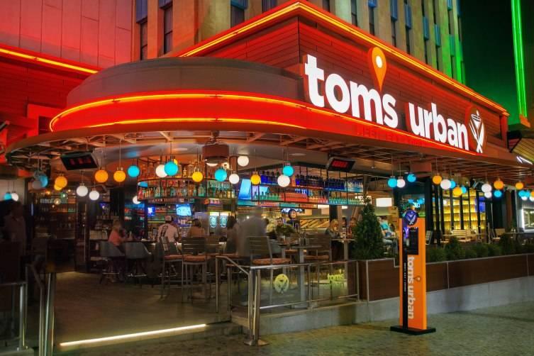 Exterior of Tom's Urban