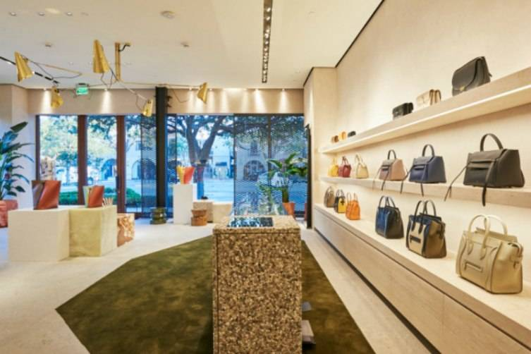 The interior is inspired by the flagship store in Paris.
