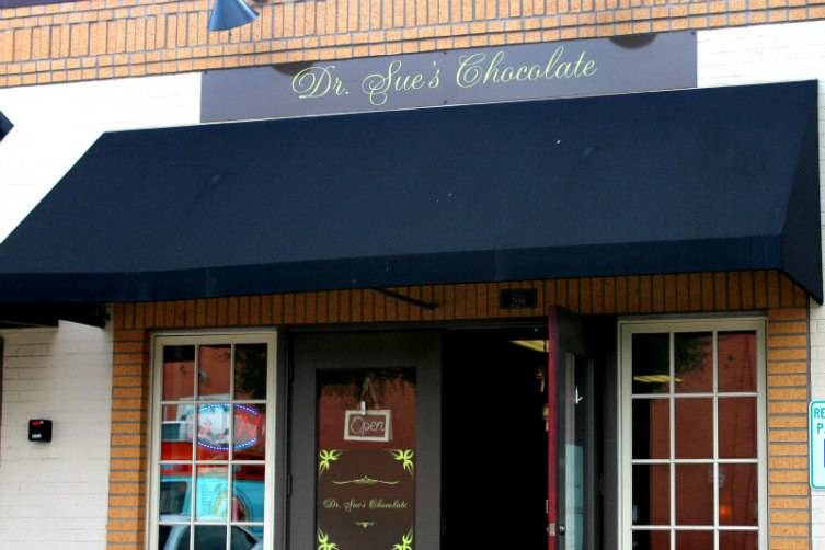 Dr. Sue's Chocolate is located in the historic downtown area of Grapevine.